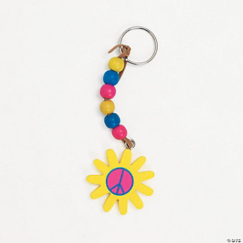Flower Peace Sign Key Ring Craft Kit