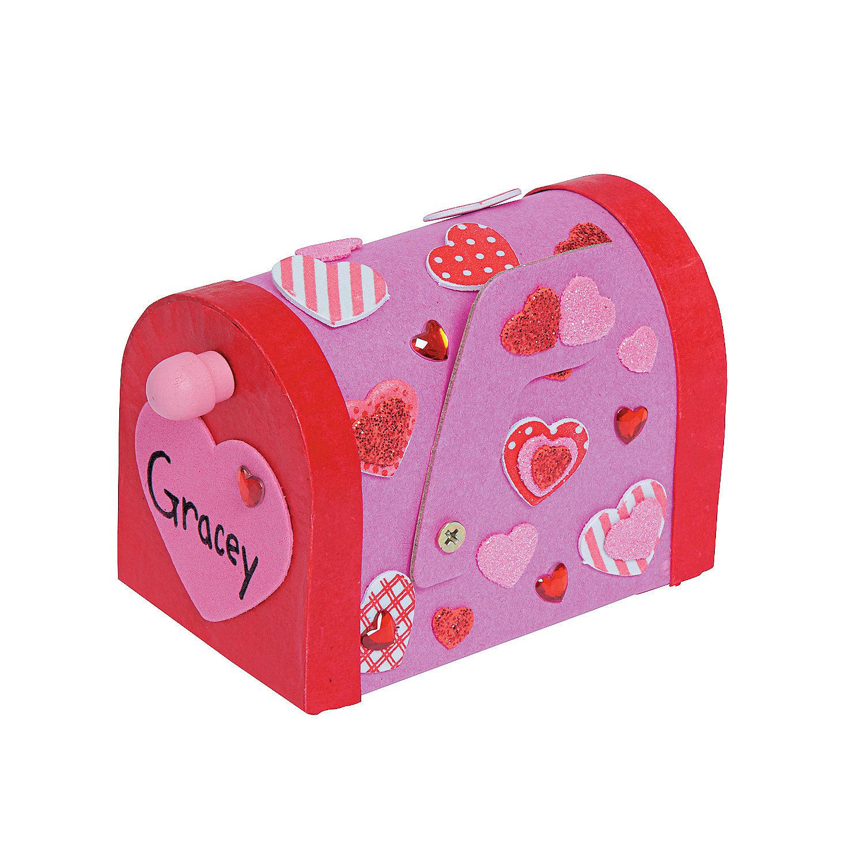 Valentine mailbox craft kit in 48 6410 valentine mailbox craft kit