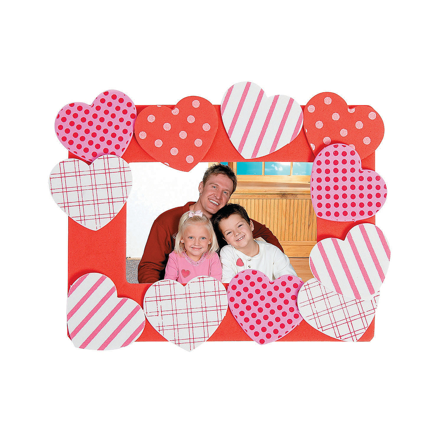 Heart picture frame magnet craft kit oriental trading for Picture frames for crafts