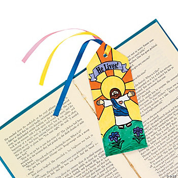 "Color Your Own ""He Lives!"" Bookmarks"