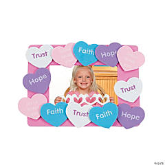 Religious Hearts Picture Frame Magnet Craft Kit