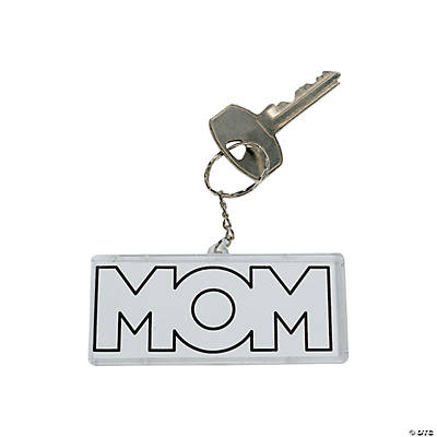 "DIY ""Mom"" Key Chains"