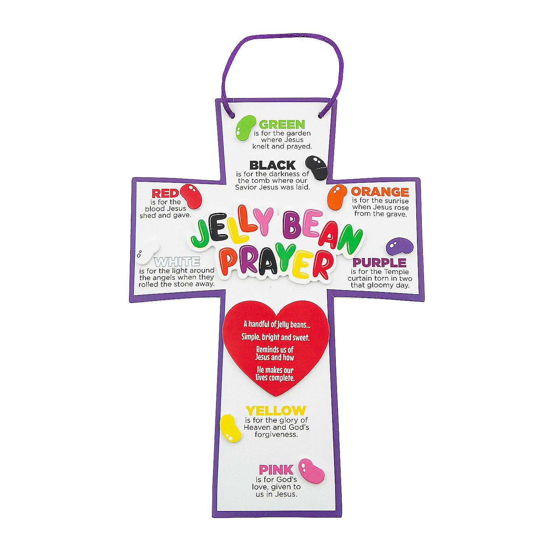 jelly bean prayer crosses craft kit in 48 6435 jelly bean prayer ...