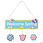 """Welcome Spring"" Door Hanger Craft Kit"
