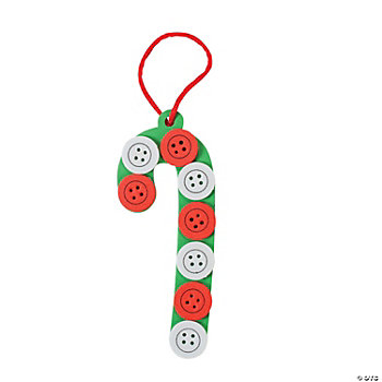 Button Candy Cane Craft Kit