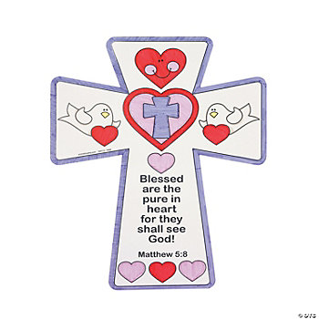 Color Your Own Inspirational Valentine Crosses