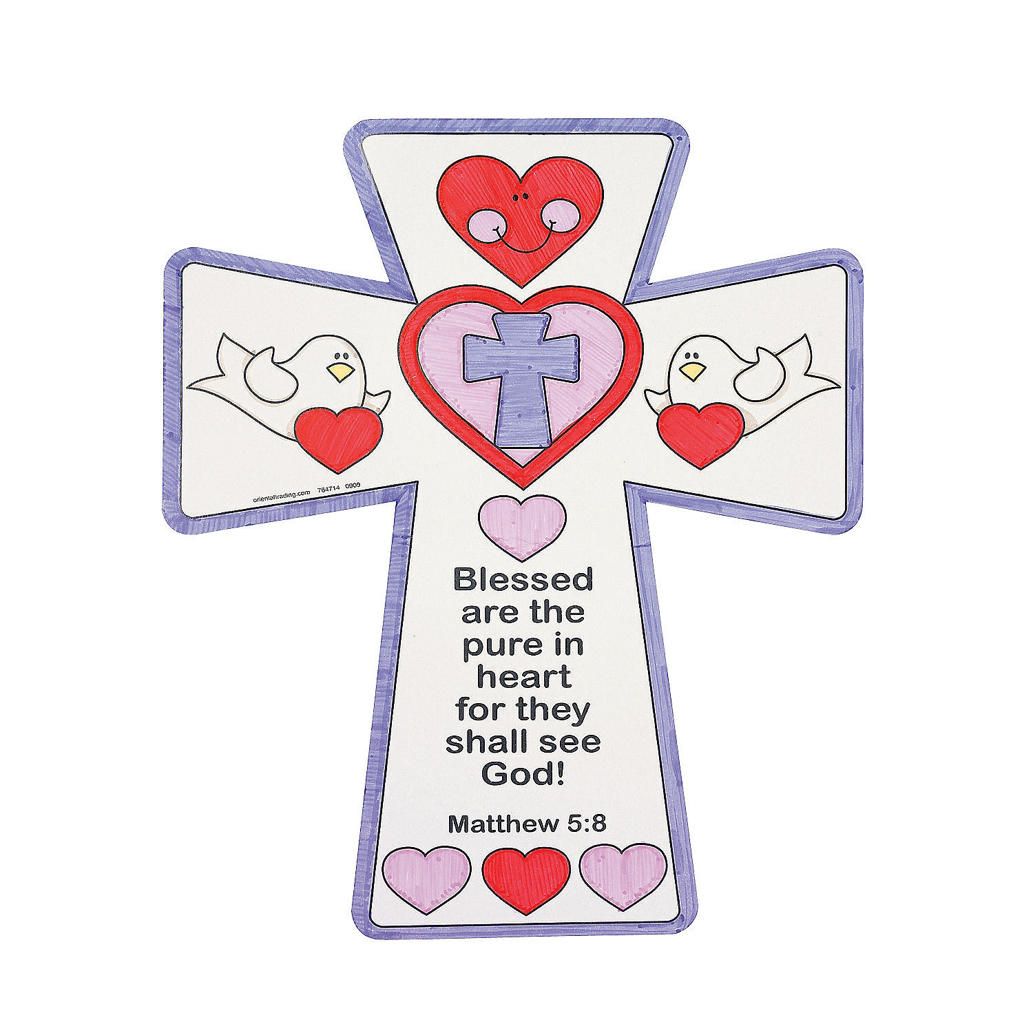 Color your own inspirational valentine crosses oriental for Inspirational valentine crafts