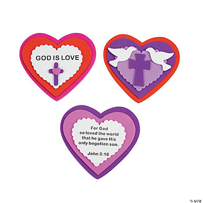 Inspirational Heart Magnet Valenitine Craft Kit