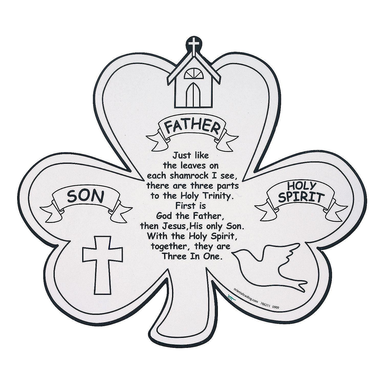 holy trinity shamrock coloring page holy trinity shamrock coloring page