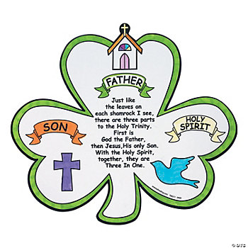 Color Your Own Shamrock Trinity Cutouts
