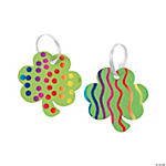 Green Magic Color Scratch Shamrock Ornaments