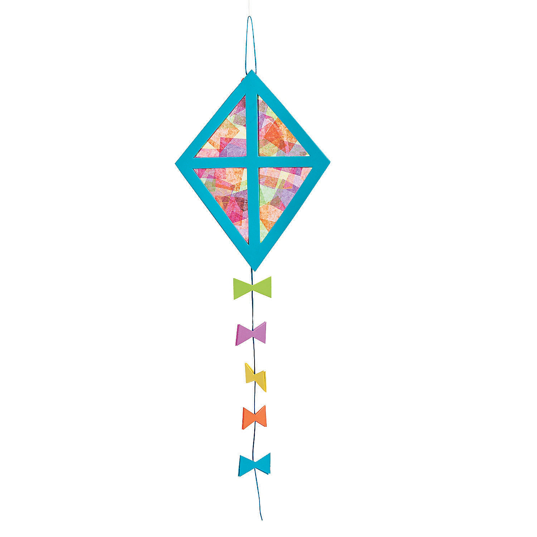 Tissue paper kite craft kit oriental trading for Decoration kite