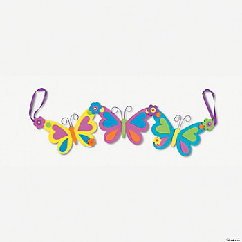Self-Adhesive Spring Butterfly Garland Craft Kit