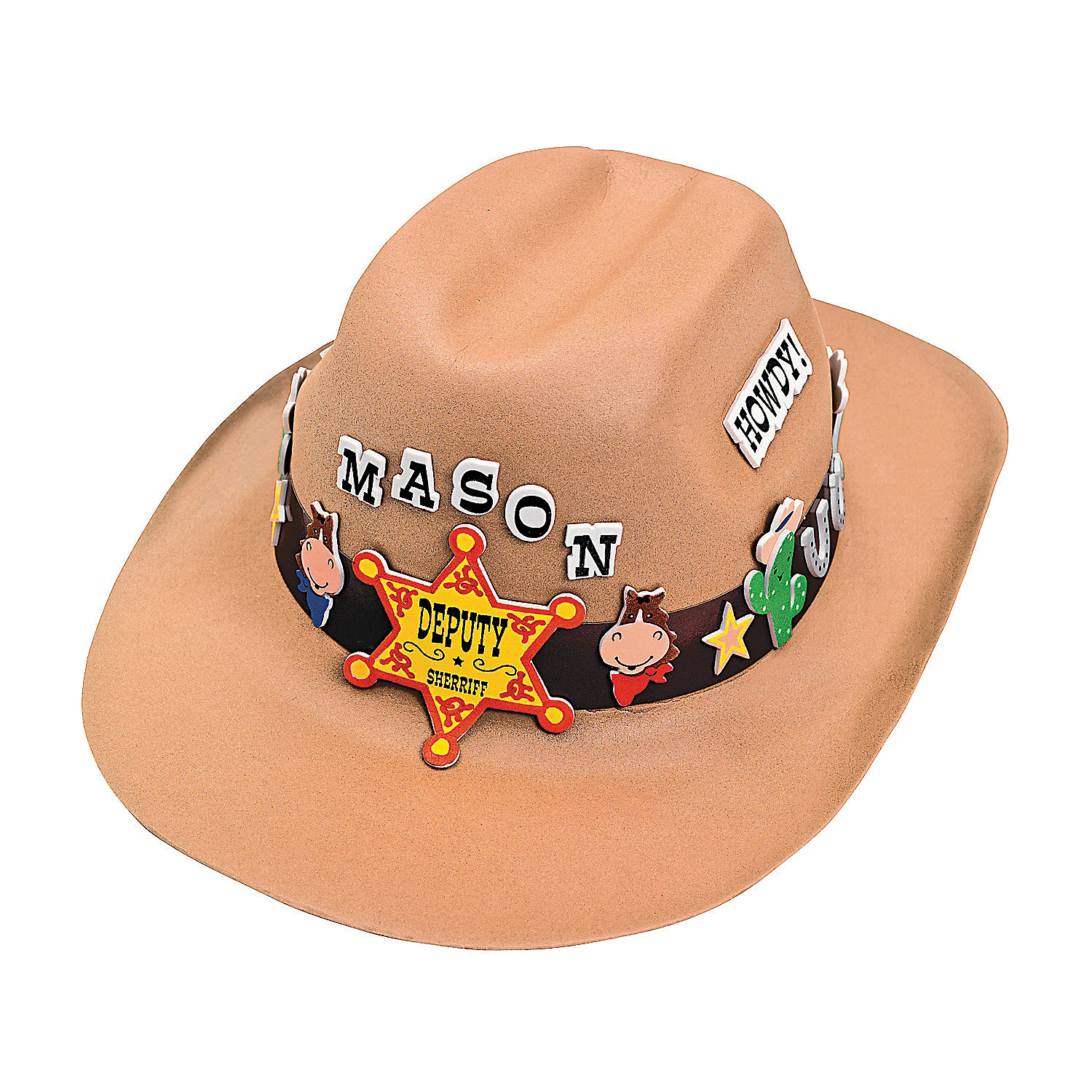 Cowboy hat craft kit oriental trading for Small cowboy hats for crafts