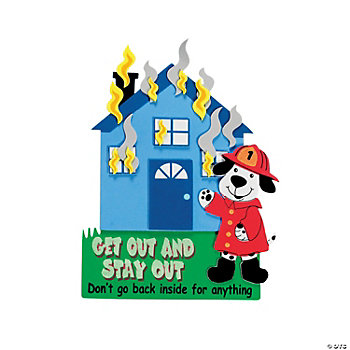 House Fire Safety Magnet Craft Kit