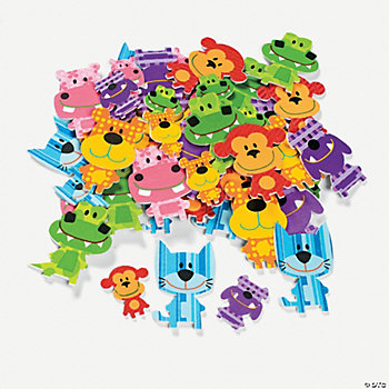"""The Critter Club"" Self-Adhesive Shapes"