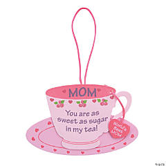 """Mom"" Tea Cup Ornament Craft Kit"