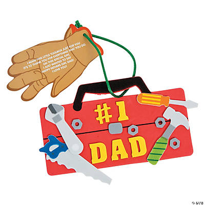 """#1 Dad"" Tool Chest Ornament Craft Kit"
