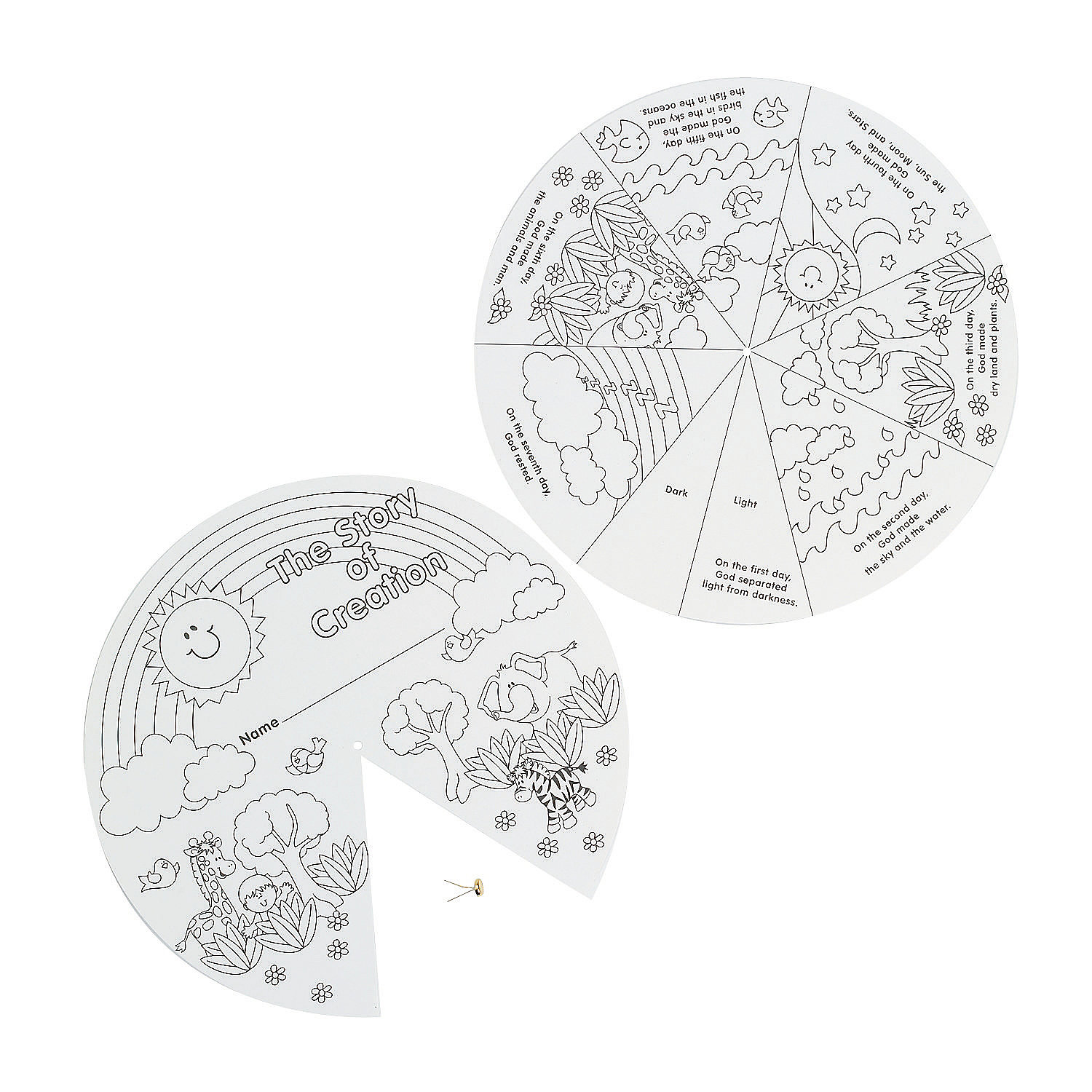 Color Your Own Creation Wheels - Oriental Trading