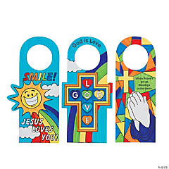 Color Your Own Religious Doorknob Hangers