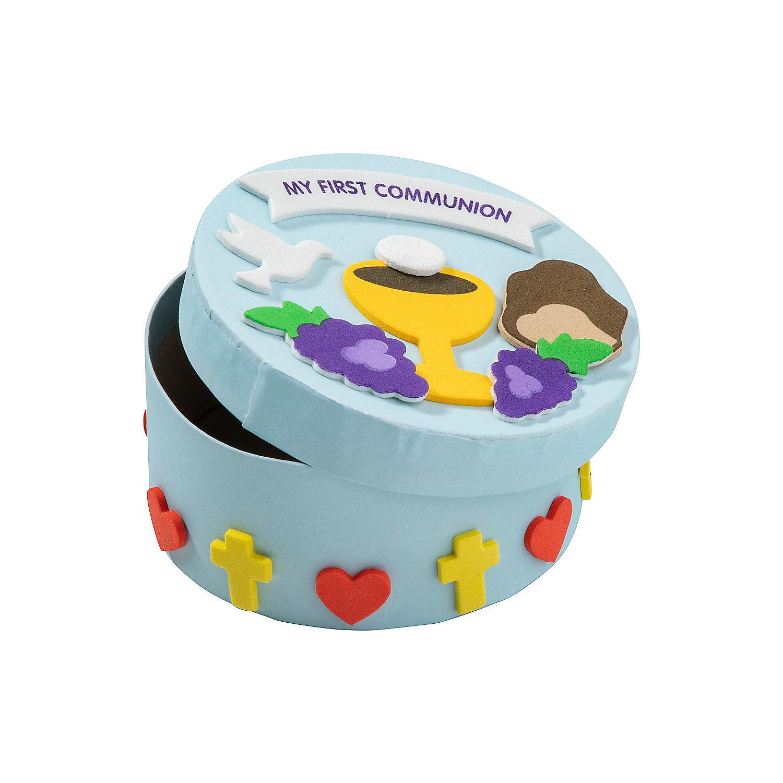 First communion prayer box craft kit oriental trading for First communion craft ideas