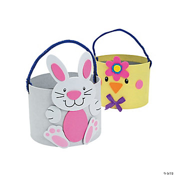 Easter Animal Self-Adhesive Basket Craft Kit