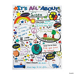 Color Your Own It's All About Being Green Posters
