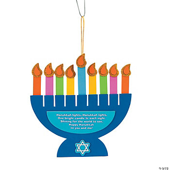 Hanukkah Lights Menorah Poem Sign Craft Kit