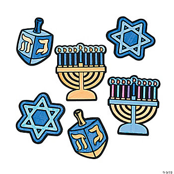 Color Your Own Hanukkah Fuzzy Magnets