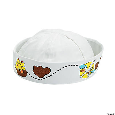 Color Your Own Sailing the Seas Sailor Hat