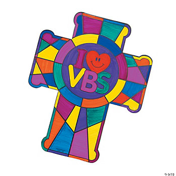 "Color Your Own ""I Love VBS"" Crosses"