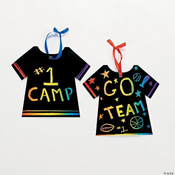 T-Shirt-Shaped Magic Color Scratch Ornaments