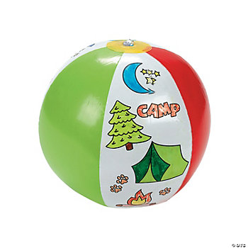 "Color Your Own ""Camp"" Beach Balls"