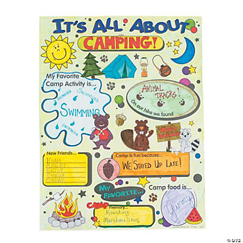 Color Your Own All About Camp Posters