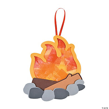 Tissue Paper Camp Fire Ornament Craft Kit