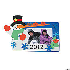 """2012"" Snowman Photo Frame Magnet Craft Kit"