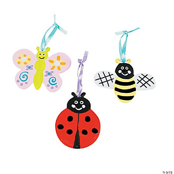 DIY Ceramic Bug Ornaments