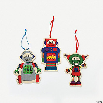 Color Your Own Robot Ornaments