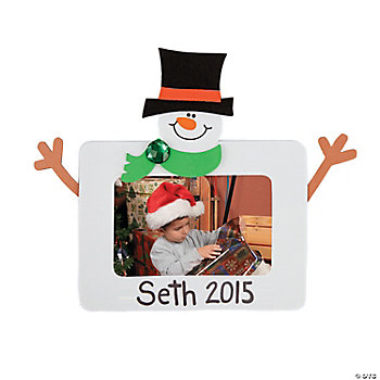 Square Snowman Photo Frame Magnet Craft Kit