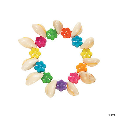 Shell Beads & Flower Bracelet Craft Kit