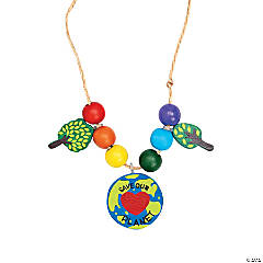 """Save Our Planet"" Necklace Craft Kit"