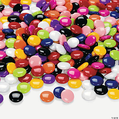 Colorful Flat Round Bead Assortment