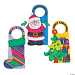 Color Your Own Christmas Door Hangers
