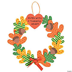 """Enter With A Thankful Heart"" Wreath Craft Kit"