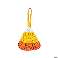 Candy Corn Button Ornament