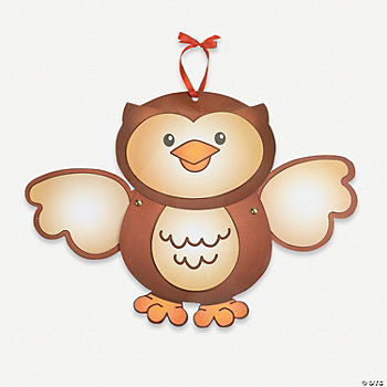 Owl With Movable Arms Craft Kit