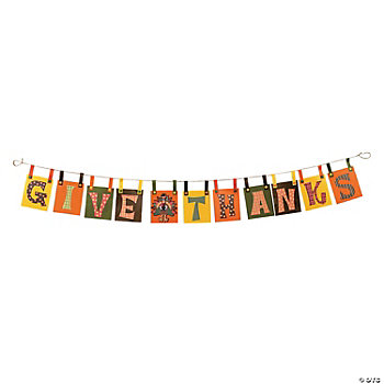 "Give Thanks"" Banner Craft Kit - Oriental Trading"