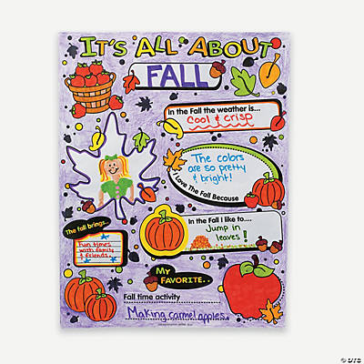 "Color Your Own ""It's All About Fall"" Posters"