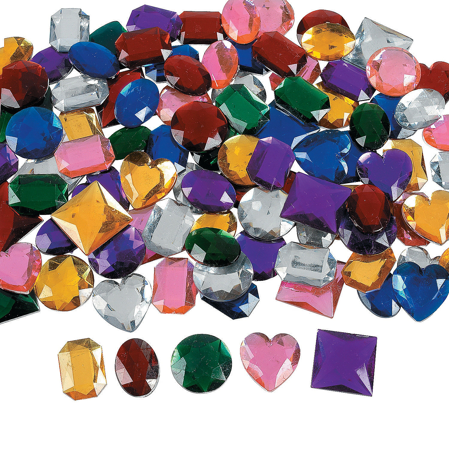 Jumbo self adhesive jewels oriental trading for Plastic gems for crafts