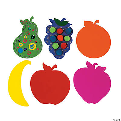 Jumbo Foam Fruit Shapes